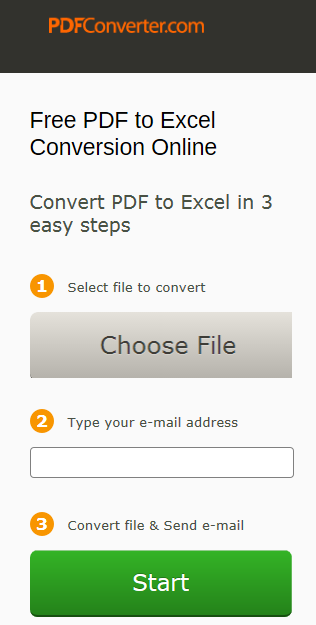 One more free PDF to Excel online converter