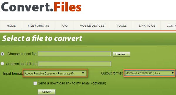 Convert.Files - free online file converter