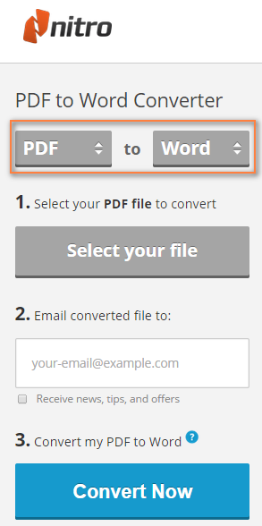 Nitro Cloud - PDF to Word online converter