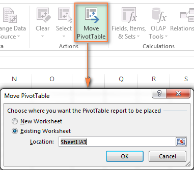 Moving a pivot table to a new location