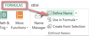 Define a name for your address list in Excel.