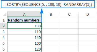 Specify the start value and increment to generate random numbers without duplicates.