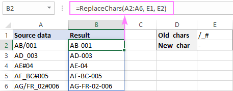 LAMBDA function to replace multiple characters recursive