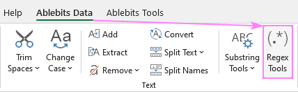 Regex Tools for Excel