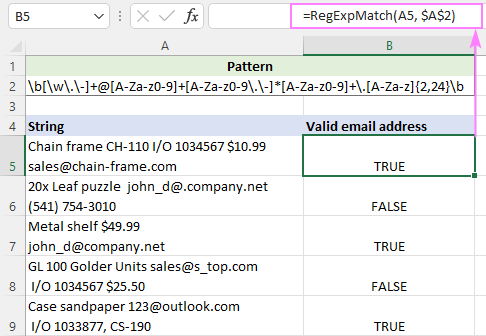 Regex to match valid email addresses