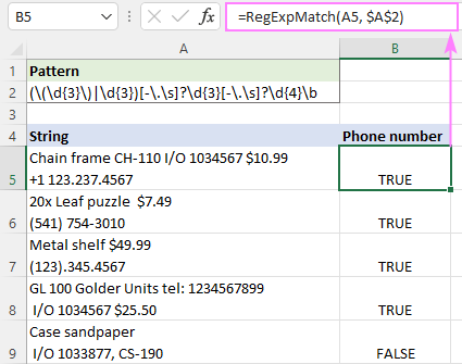 Regex to match phone numbers