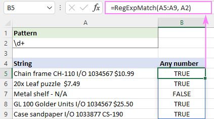Regex to match any number