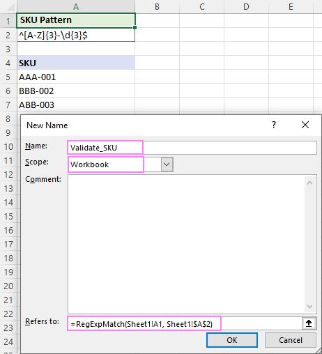Defining a name for a RegExpMatch formula