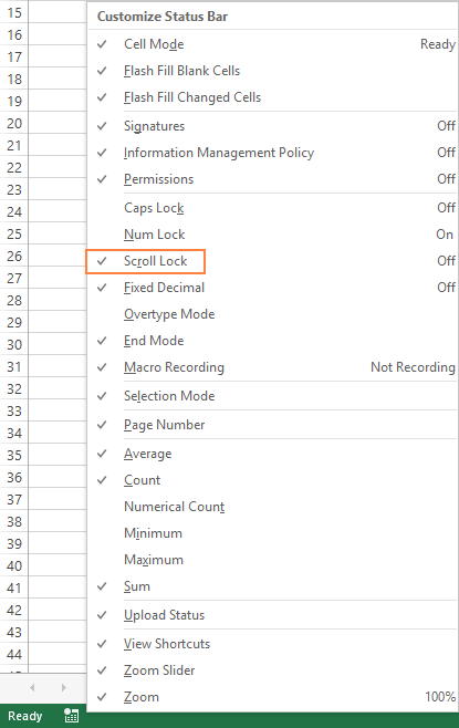 Scroll Lock in Excel – how to turn it off and on