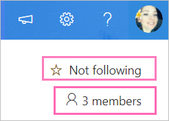 Chose Follow or add members