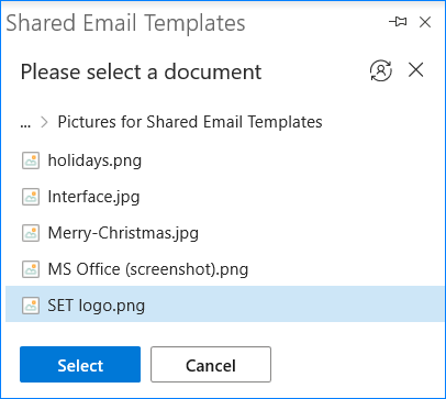 Select the necessary illustration from your SharePoint to paste