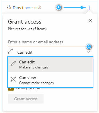 Manage accounts and permissions for the SharePoint folder