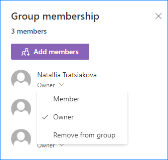 Modify membership of a team site in SharePoint