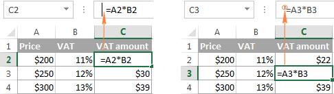 excel showing formulas instead of result