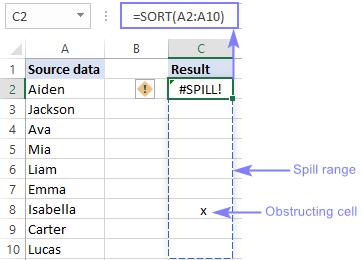 #SPILL error in Excel