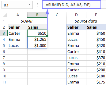 Resolving a #SPILL error with a SUMIF formula