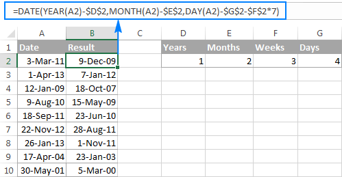 Excel subtract dates in Sydney
