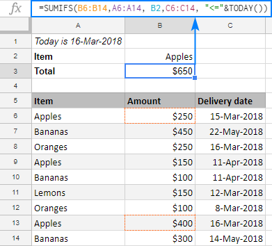 Google Sheets SUMIFS to sum cells with multiple AND / OR