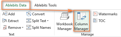 Column Manager for Excel