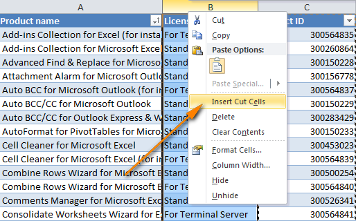 Excel how to move swap columns by dragging and other ways - Move table rows up and down using jquery ...