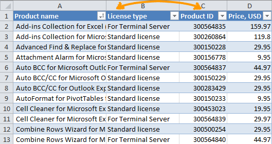 Excel: How to move (swap) columns by dragging and other ways