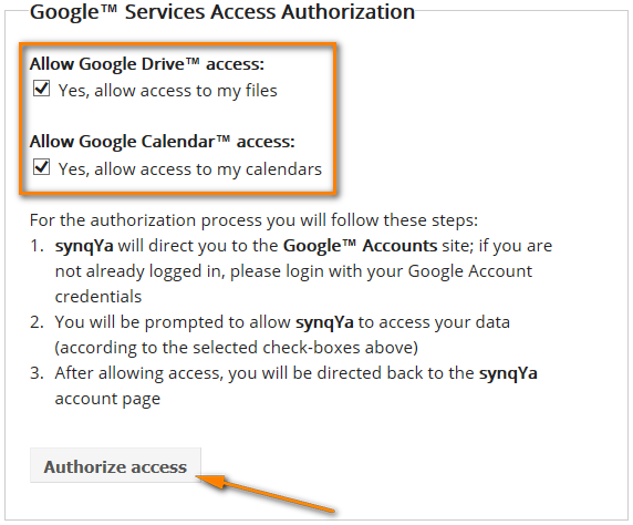 Setting up syncing between Google and Outlook calendars with SynqYa