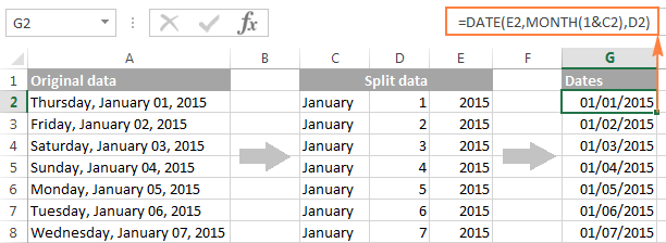 Excel: convert text to date and number to date