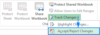 Accept or reject changes in Excel