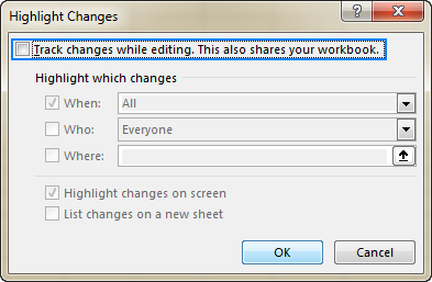 How to track changes in Excel
