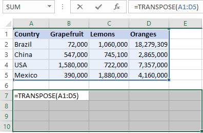 Typing the Transpose formula