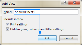 Creating ShowAllSheets view