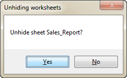 Unhide multiple sheets with VBA