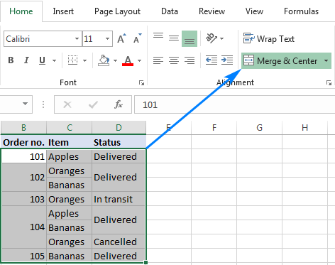 The fastest way to unmerge cells in Excel