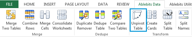See the Unpivot Table icon under the Ablebits Data tab
