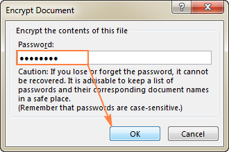 Enter a password to open the workbook.