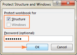 excel vba protect workbook structure