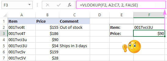 A usual Vlookup formula is case-insensitive.