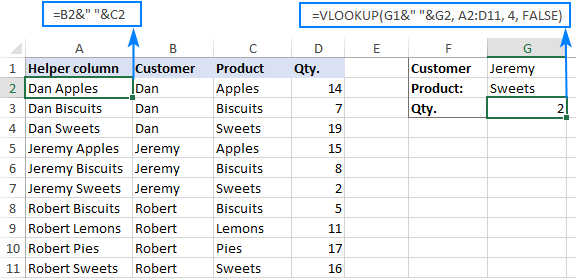 VLOOKUP with two criteria