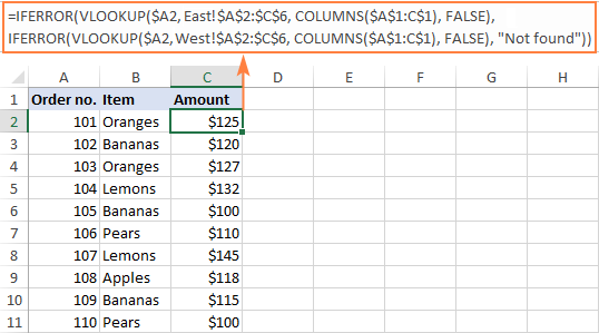 To Vlookup from multiple columns, make col_index_num dynamic.