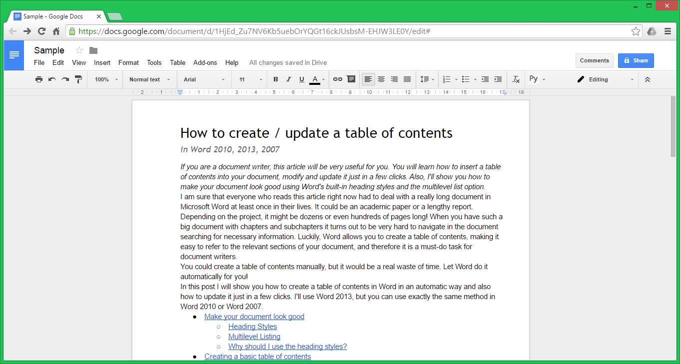 Google Docs: Word Online Vs. Google Docs