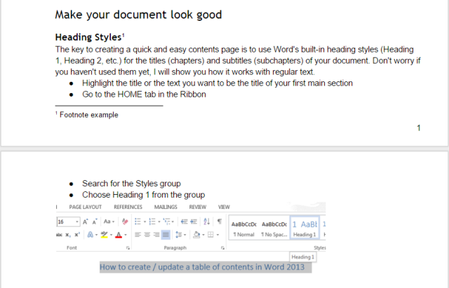 Google Docs: the way text flows from page to page. The Page Layout mode is enabled.