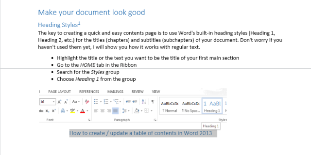 Word Online: the way text flows from page to page. The Show Page Ends mode is enabled! Headers, footers, page numbers, and bookmarks are not displayed