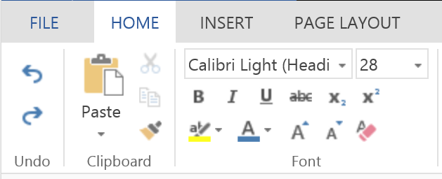Word Online: an example of unadapted image in the toolbar with 200% dpi