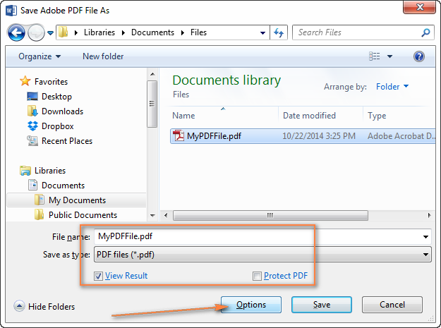 Converting DOC / DOCX to PDF from Microsoft Word