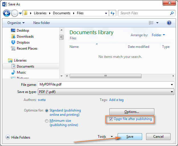 Convert ms word 2003 to pdf online for Saved documents pdf