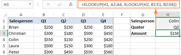 Two-way XLOOKUP