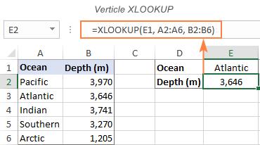 Vertical XLOOKUP