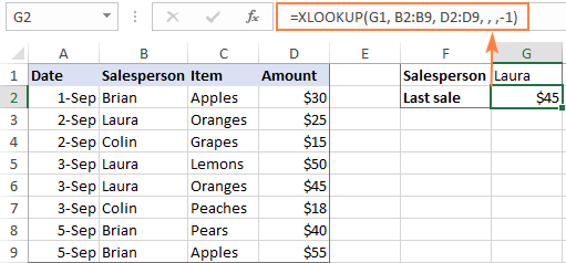 XLOOKUP in reverse order to get the last match