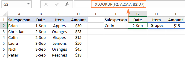 XLOOKUP to return multiple columns