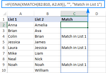 Comparing two columns for matches